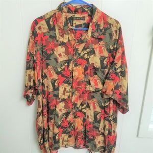 Men's Colorful Hawaiian Shirt, Natural Issue, XXL